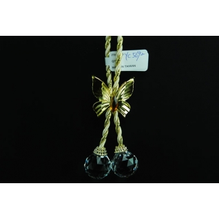Украшение подвеска Шарики, цвет золото, акрил
