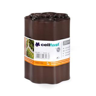 Обрамления огородно-газонные CELLFAST 20см x 9м коричневый