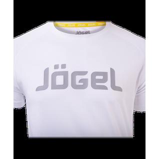 Футболка тренировочная Jögel Jtt-1041-018, полиэстер, белый/серый размер L