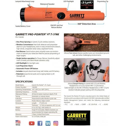 Пинпоинтер Garrett Pro-Pointer AT Z-Lynk Garrett 36991124 2