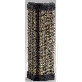 Когтеточка сизалевая с мехом и кошачьей мятой, 50x21 см (угловая) Beeztees