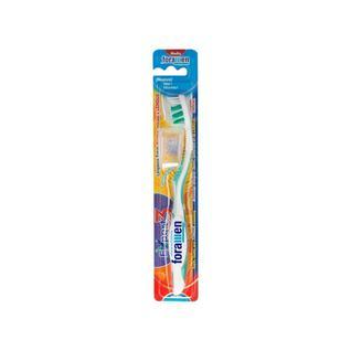 Зубная щетка FORAMEN Expert 3 со скрещенными щетинками и щеточкой для языка средняя