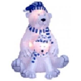 Надувная фигура медведица с медвежонком