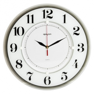 Часы настенные Белый, 35см., черн., пластик Apeyron PL 1712 735