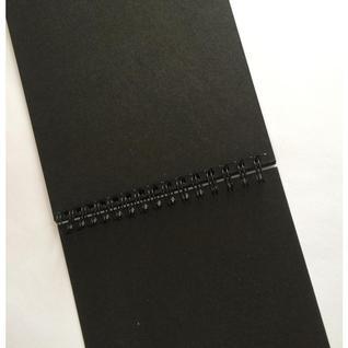 Скетчбук 207х297мм 20л, черные, 200гр/м, спираль, тиснение фольгой 07910
