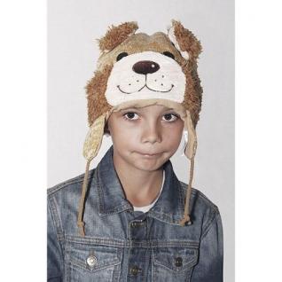 TrueFur Шапка детская трикотажная Собачка с завязками H0020