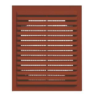 Решетка вентиляционная вытяжная 110*220 коричневая серия В Виенто