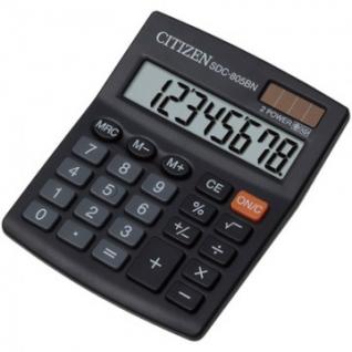 Калькулятор настольный КОМПАКТНЫЙ CITIZEN бухг. SDC805BN 8 разрядов DP