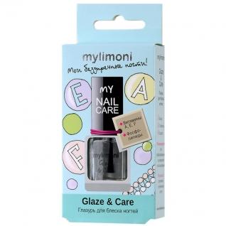 "Limoni MyLimoni — Глазурь для блеска ногтей ""Glaze & Care"" 6 мл."
