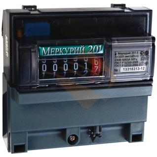 Счетчик Меркурий 201.5 1фазный 1тарифный 5-60А 1класс