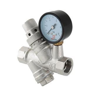 """Регулятор давления Valtec с фильтром и манометром 1- 5 бар 1/2""""(VT.082.N.04)"""