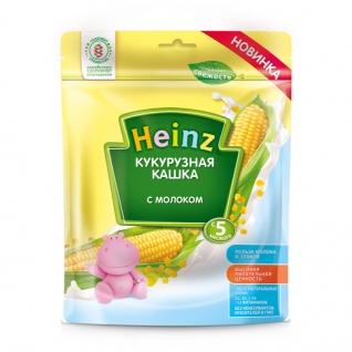 Молочная каша Heinz - Кукурузная (с пребиотиками, с 5 мес.), 180 гр.