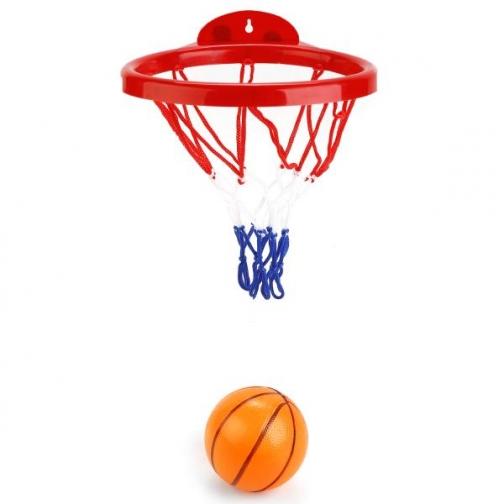 Набор Для Игры В Баскетбол (Кольцо 19,5см Пластик, Мяч 8см) В Сетке 37801435