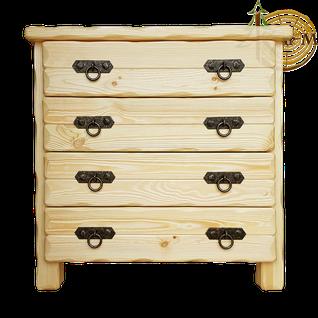 Комод деревянный Барин 2 (4 ящика) с элементами ковки