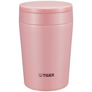Термоконтейнер для первых или вторых блюд Tiger MCL-A038 Cream Pink, 0.38 л (цвет - розовый) (+ Поливные капельницы в подарок!)