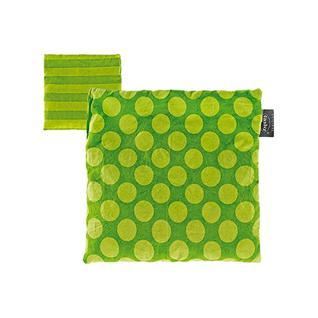 Грелка FASHY хлопок зеленый в горох, 19x20 см