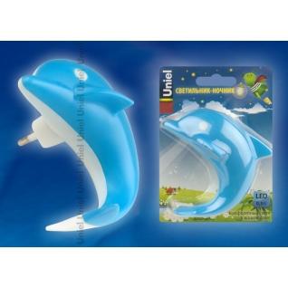 Uniel DTL-301-Дельфин/Blue/4LED/0,5W