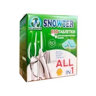 Таблетки для посудомоечных машин SNOWTER ЭКО 60шт