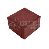 Тротуарная плитка красная 100х100х60 мм (Выбор)