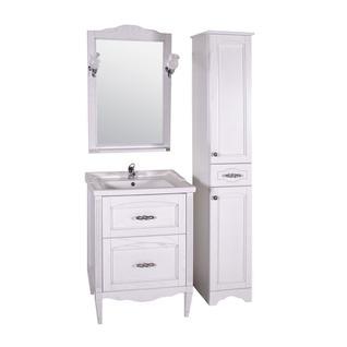 Зеркало Римини Nuovo 60 (Белый/Патина серебро) ASB-Woodline