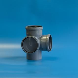 Крестовина ПП 110 х110 - 90 гр. с кольцом 2-х плокостная (Политэк)