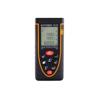 Дальномер лазерный GRAVIZAPPA DSL80 дальность 0.2-80м, точность 2мм, подсветка, ...