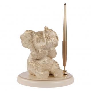 """Письменный прибор """"Ничего не скажу"""" (сувенир) (Антик слоновая кость)"""