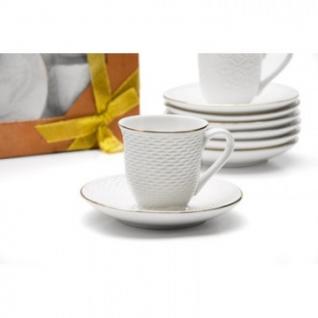 Сервиз чайный Mayer&Boch 240мл костяной фарфор белый 8 пр. 25775