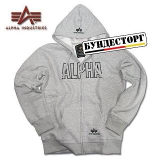 Alpha Industries Толстовка Alpha Industries Track, застежка-молния, цвет серый