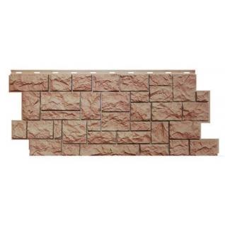 Фасадная панель Северный камень 1117х463х24мм терракотовый