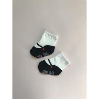 3866 носки детские балеринки черный Роза (12-18) (12)