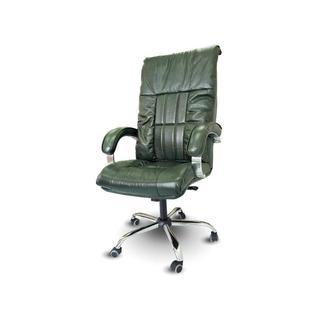 EGO Офисное массажное кресло EGO BOSS EG1001 малахит ELITE (натуральная кожа)