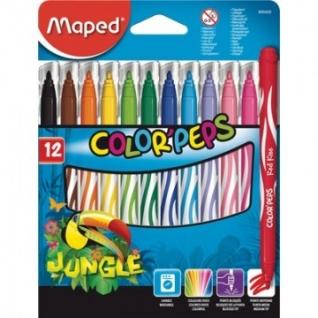 Фломастеры Maped Jungle 12 цв 845420 картон