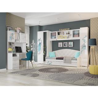 Комплект детской мебели ПМ: МебельСон Гламур К1