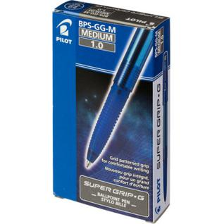 Ручка шариковая PILOT Super Grip G BPS-GG-M-L резин.манжет. синяя 0,27мм