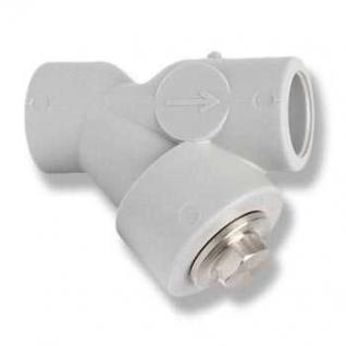 Фильтр косой сетчатый полипропилен. грубой очистки D32 FV-PLAST 308033
