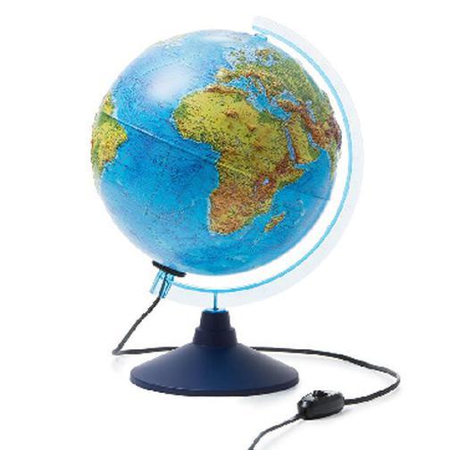 Глобус Физико-политический с подсв. рельефный,250мм, Ке022500195 37875040 3