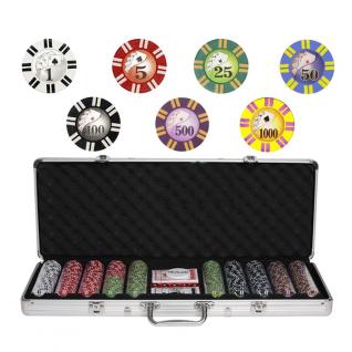 Набор для покера Partida Royal Flush на 500 фишек