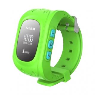 Детские часы GPS маяк KidTracker Q50 (зеленые)