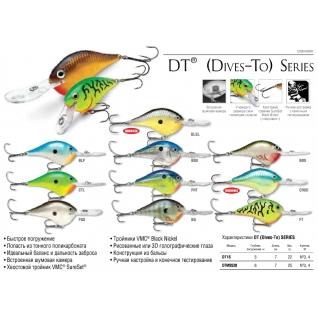 Воблер плавающий Rapala Dives-To DT16-PGS (до 5 м, 7 см 22 гр)