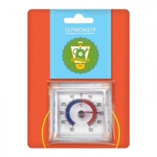 Термометр оконный на липучке 7,5х7,5х2,5см 466093