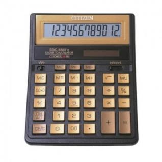 Калькулятор настольный ПОЛНОРАЗМЕРНЫЙ CITIZEN SDC-888TII Gold,12 разр,зол