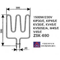 ТЭН KIP/KV/M45/V45(E) / Saund ZSK - 690