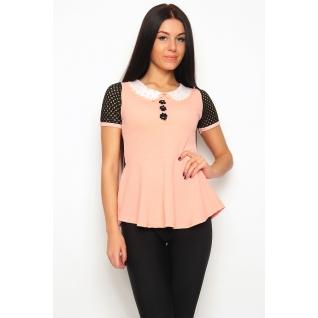 Блуза с баской 46 размер