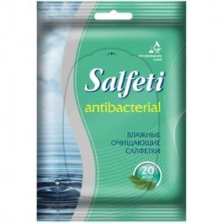 Салфетки влажные Salfeti д/рук антибактериальные 20шт./уп.