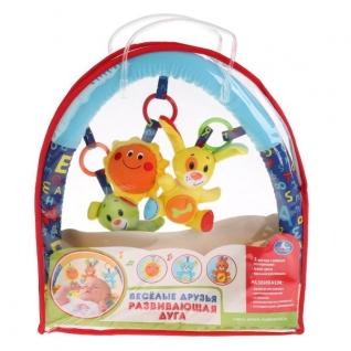 """ДУГА НА КОЛЯСКУ """"УМКА"""" (2 ВАРИАЦИИ ИГРУШЕК С ОДНОЙ ВСТАВКОЙ) 3 ИГРУШКИ В КАЖДОМ КОМПЛЕКТЕ в кор.32шт Изготовитель: China """"Shantou City Daxiang Plastic Toy Products Co., Ltd"""