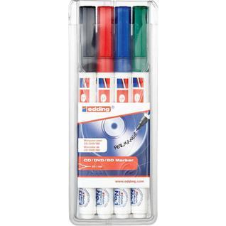 Набор маркеров для CD EDDING E-8400/4S 0,75мм, 4 штуки
