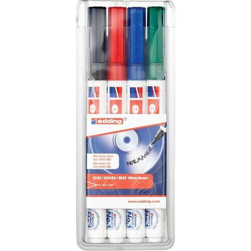 Набор маркеров для CD EDDING E-8400/4S 0,75мм, 4 штуки 37849033
