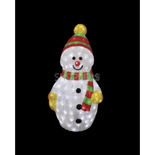 """Neon-Night Акриловая светодиодная фигура """"Снеговик с шарфом"""" 60 см, 200 светодиодов, IP 44, понижающий трансформатор в комплекте, NEON-NIGHT"""