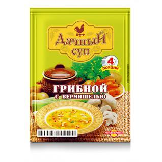 """Русский продукт Суп Дачный """"Грибной с вермишелью"""" 60г"""